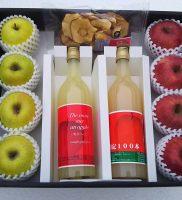 贈答用りんごとりんごジュース、ドライフルーツのセット